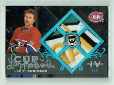 07-0 UD Upper Deck The Cup  Larry Robinson  5/5  Auto  Quad Patches  HOF