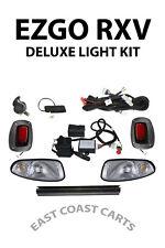 EZGO RXV SUPER DELUXE LIGHT KIT w/ TURN LIGHTS, BRAKE LIGHT, & HORN