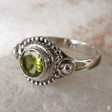 Runde Echte Edelstein-Ringe mit Peridot für Damen