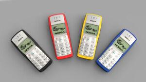 Nokia 1100 - Jet Black (Unlocked) Mobile Phone / FULL PACK