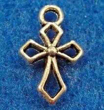 20Pcs. Tibetan Silver CROSS Charms Earring Drops Pendants Jewelry Findings CR34