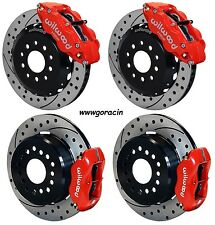 """Wilwood Front & Rear Brakes 05-14 Ford Mustang,13""""/12"""" Drilled Rotors,6/4 Piston"""