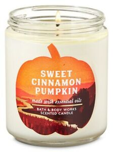 "Bath & Body Works ""SWEET CINNAMON PUMPKIN"" 1 Wick Candle Brand New"