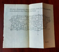 1901 Sketch Map of District Census Showing Boundaries in Puerto Rico