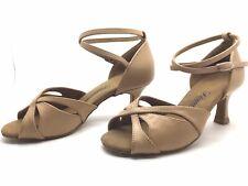 Chaussure de danse de salon pour femme:diamant couleur:beige taille: 35,5