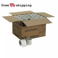 80 Rolls Per Case, 2-Ply Embossed Toilet Paper, Flushable Tissue 550 Sheets