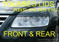 VW Touareg FRONT and REAR eyebrows spoiler genuine ABS plastic headlamp NEW MAXX