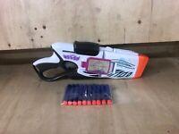NERF Rebelle Quad Shot Dart BLASTER Shoots Around Corners Cornersight
