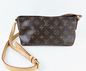 Louis Vuitton Brown Monogram Coated Canvas Trotteur Handbag Shoulder Bag