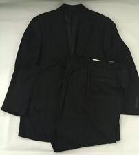 Vintage Van Boven Black Pin Striped Wool/Cashmere Suit Size 40-34