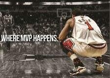 DERRICK ROSE MVP BASKETBALL STAR POSTER ART PRINT  AMK2059