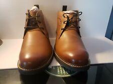 Nunn Bush Ozark Plain Toe Chukka Boot Tan Crazy Horse Leather Size 9.5 Wide