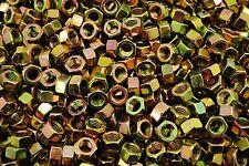 (450) 3/8-16 Grade 8 Hex Finish Nuts - Yellow Zinc - Coarse
