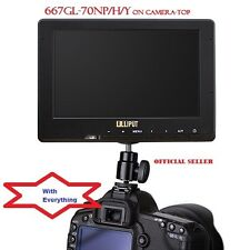 "Lilliput 7"" 667GL-70NP/H/Y On Camera HDMI field Monitor + LP-E6 Battery for 5D"