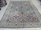 """ANTIQUE Hand knotted rug 7''6"""" x 11' Nain"""