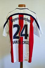 BAYERN MUNCHEN GERMANY 2000/2001 AWAY FOOTBALL SHIRT ADIDAS SANTA CRUZ #24