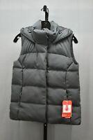 The North Face Novelty Nuptse Goose Down Hooded Vest, Women's Size XS, Asphalt