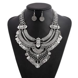 Bohemia Women Choker Chunky Statement Bib Collar Charm Pendant Necklace Jewelry