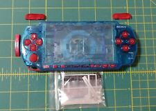 Clear Blue PSP 2000 Shell With Red Buttons