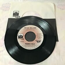 Frankie Valli ~ Our Day Will Come / You Can Bet~45 Private Stock(1975) EXCELLENT