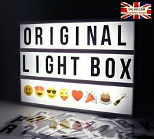 New A4 Cinematic Light Box 100 Characters Letters, 10 Colour Emoji +USB +Storage