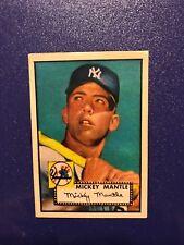 1952 Topps Mickey Mantle Baseball Rookie Card #311 - N.Y. Yankees aged reprint
