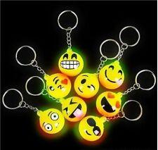 Light-up Emoticon Emoji Keychains - 12 Count