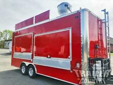 New 2021 85x20 Enclosed Mobile Concession Kitchen Food Vending Trailer Marquee