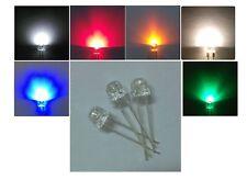 10 LED 5mm ALTA LUMINOSITA' STRAW HAT BIANCHI BLU ROSSO VERDE GIALLO Diodi luce