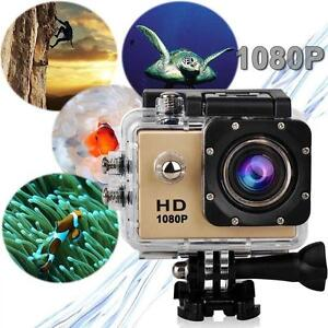 Pro Waterproof Action Video Sports Camera record HD 1080P 12MP LCD Display GO!