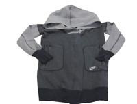 Nike Jacket Black Gray Full Zip Tech Fleece Cocoon QS Cotton Womens Size Small