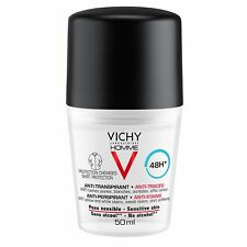 Vichy Homme Deo Roll-On Deodorant Anti-Tracing Effect 48H Antiperspirant 50ml