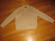 Mens Lands' End Oatmeal Beige Collared Sweatshirt Size Large