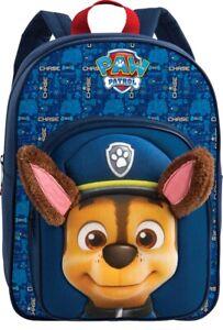 Paw Patrol Chase Rucksack marineblau 3D KITA Kindergarten Vorschule Hund neu