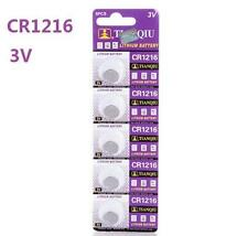 3V CR1216 DL1216 ECR1216 3 Volt Button Coin Cell Battery for CMOS watch toy x5 *