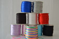 1mm Nylon Satin Cord Rattail Thread Kumihimo Shamballa 1M 5M 10M 20M Bracelet