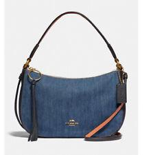 ❤️NWT Coach sutton crossbody 67359 messenger bag cotton zip closure denim