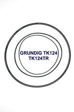 SET BELTS GRUNDIG TK124 REEL TO REEL EXTRA STRONG NEW FACTORY FRESH TK 124