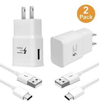2x Fast Charge USB Wall Charger Type-C Cable For Samsung Galaxy Note9 8 S9 S10e