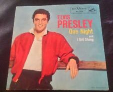 """ELVIS PRESLEY PICTURE SLEEVE """"ONE NIGHT"""" w/b """"I GOT STUNG"""" COVER M-, DISC M"""