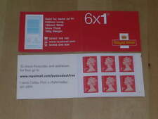 GB 2014 MB13 Barcode Cylinder Booklet 6 x 1st Class MSIL M14L 0345 Tel No.