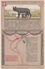 A7200) FERROVIE DELLO STATO 1907 POSA PRIMA PIETRA NUOVA STAZIONE DI TRASTEVERE.