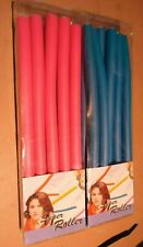 x 20 super roller bendy hair rollers pink and blue