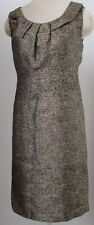 $175 NWT Michael Kors Sleeveless Sheat Dress Gold Metallic Silk Blend Size 2