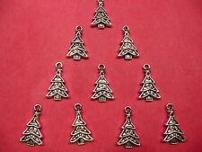 Tibetan Silver Christmas/Xmas Tree Charms 10 per pack