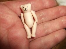 """UNUSUAL COLLECTABLE HANDPAINTED BISQUE MINI WIRE JOINTED TEDDY BEAR 1.75"""""""