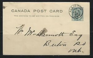CANADA - 1c KING EDWARD VII POSTCARD ALLISTON, ON TO BERLIN, ON