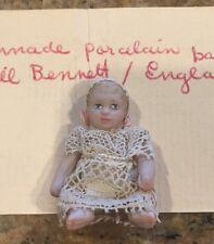 JILL BENNETT England Porcelain Baby Doll Handmade Miniature Dollhouse OOAK