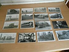 More details for a collection of 16 mainly postcard sized photographs of trams