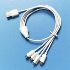 white 50cm 4 in 1 micro usb charger cable charge 4 android devices